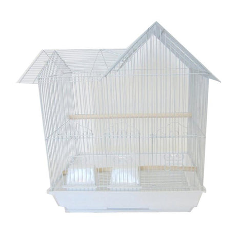 "YML Group 1754WHT 3/8"" Bar Spacing Villa Top Bird Cage, White - Peazz Pet"