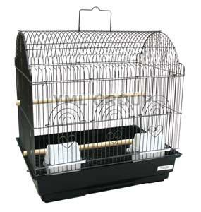 "YML Group 1784BLK 3/8"" Bar Spacing Barn Top Bird Cage, Black - Peazz Pet"