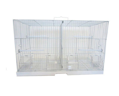 "YML Group 2412 3/8"" Canary Finch Breeding Cage, Small, White - Peazz Pet"