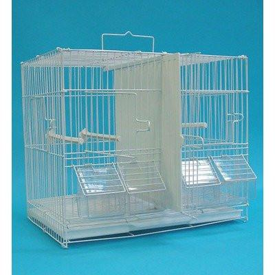 "YML Group 2413 3/8"" Canary Finch Breeding Cage, Medium, White - Peazz Pet"
