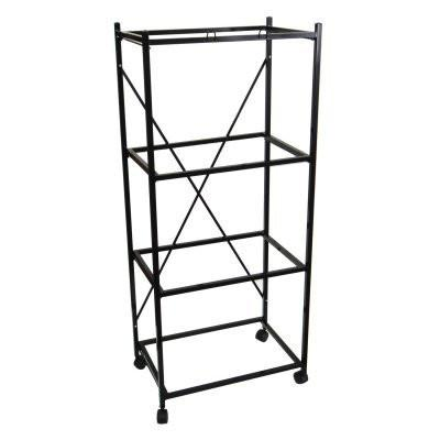 YML Group 4134BLK 4 Shelf Stand for 2424 and 2434, Black - Peazz Pet