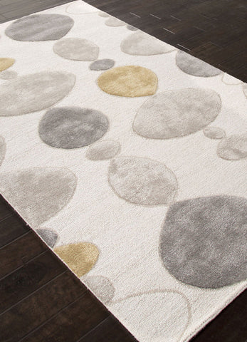 Jaipur Rugs RUG111807 Hand-Tufted Durable Wool/ Art Silk Ivory/Gray Area Rug ( 9x12 ) - Peazz.com