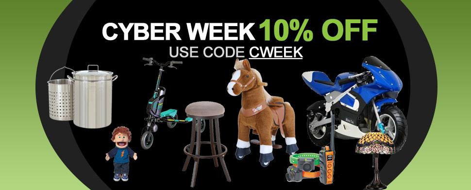 Cyber Week 10% Off Sale