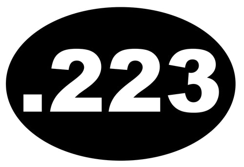 .223 Remington bullet sticker