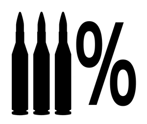 3% Percenter Gun 5.56 Sticker