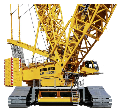 Liebherr LR 11000 Crawler Crane Hard Hat Stickers