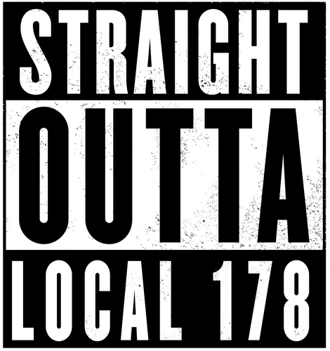 Straight Outta 178 Sticker