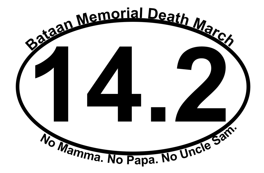 Bataan Memorial Death March Sticker - 14.2 Mile