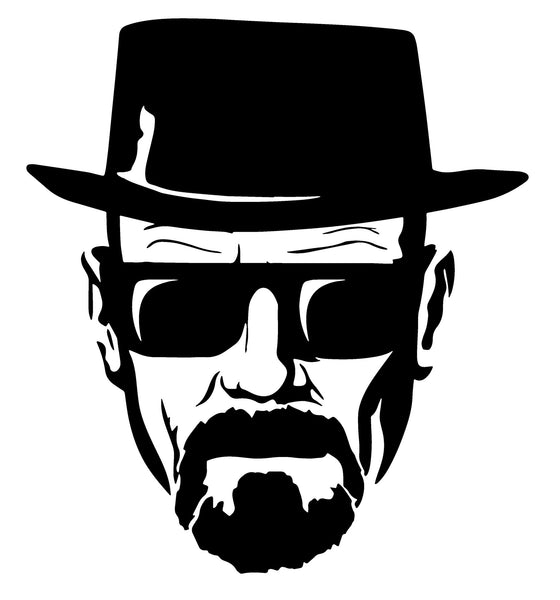 "Breaking Bad Heisenberg Stickers - 7"" Tall CMYK Die-Cut"