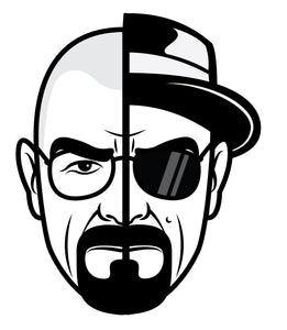 Buy Breaking Bad Two Face Heisenberg Stickers 7 Tall Cmyk Die Cut