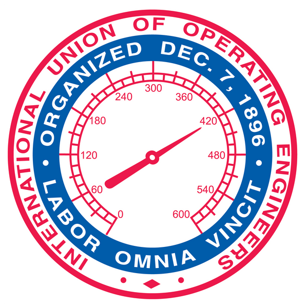 International Union of Operating Engineers Union Labor Sticker