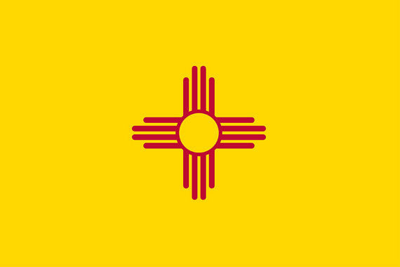 "New Mexico State Flag Sticker Decal - 4"" x 6"""