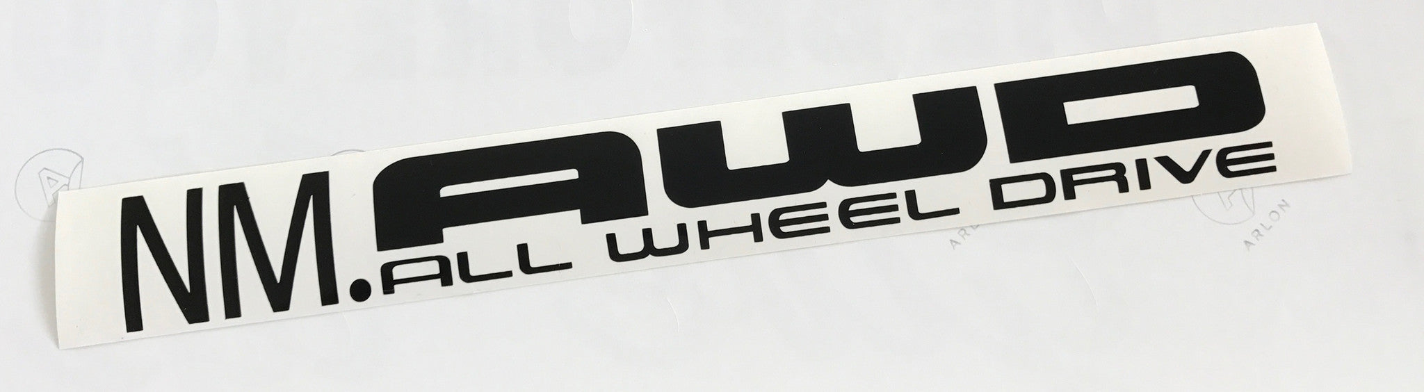 New mexico all wheel drive vinyl transfer sticker