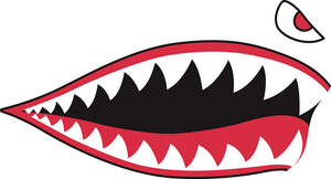 P40 Shark Teeth Sticker