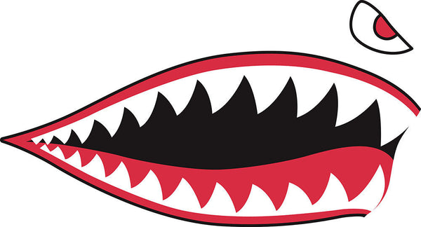 P40 Style Shark Teeth Jaw Stickers Albuquerque Vinyl Llc