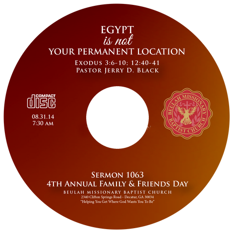 1063 Egypt is Not Your Permanent Location (CD)