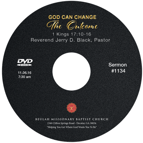 1134 God Can Change the Outcome (CD)