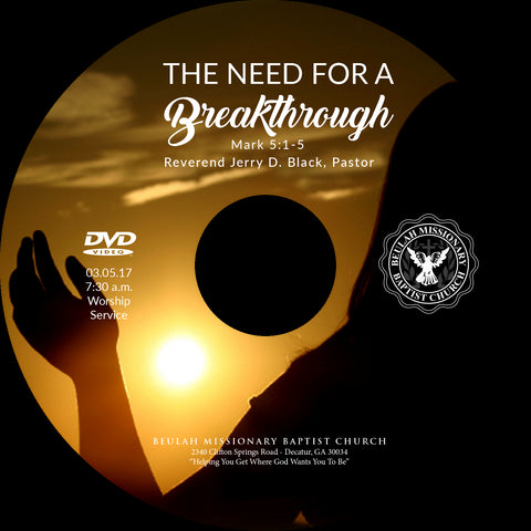 1147 The Need for a Breakthrough (CD)