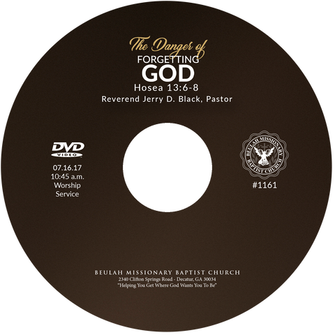 1161 The Danger of Forgetting God (CD)