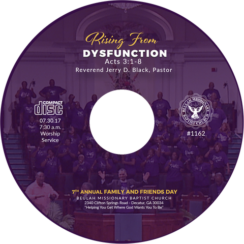 1162 Rising From Dysfunction (CD)