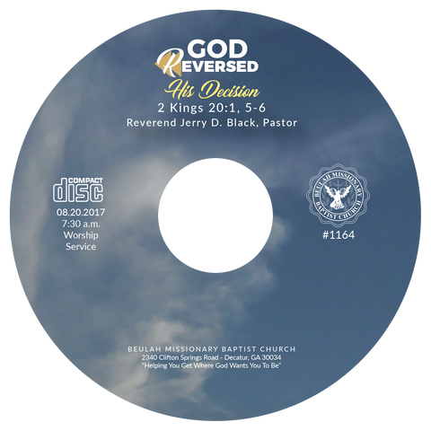 1164 God Reversed His Decision (CD)