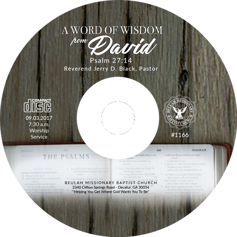 1166 A Word of Wisdom from David (CD)