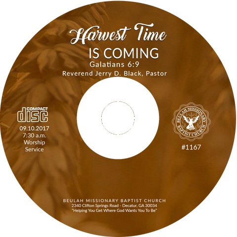 1167 Harvest Time is Coming (CD)