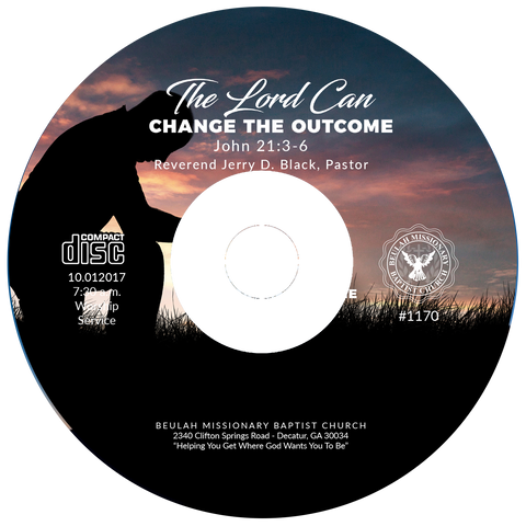 1170 The Lord Can Change The Outcome (CD)