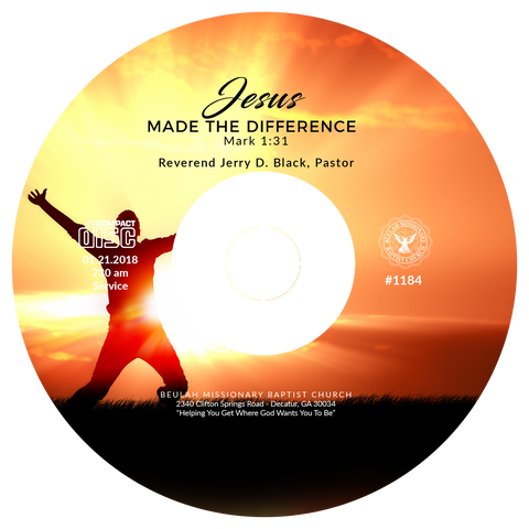 1184 Jesus Made The Difference (CD)
