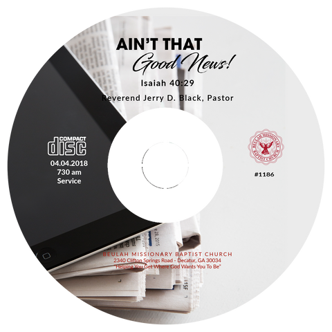 1186 Ain't That Good News (CD)