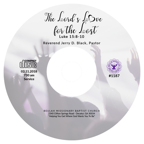 1187 The Lord's Love for the Lost (CD)