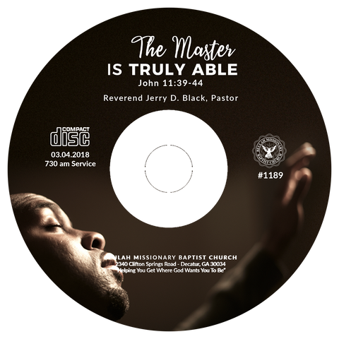 1189 The Master is Truly Able (CD)