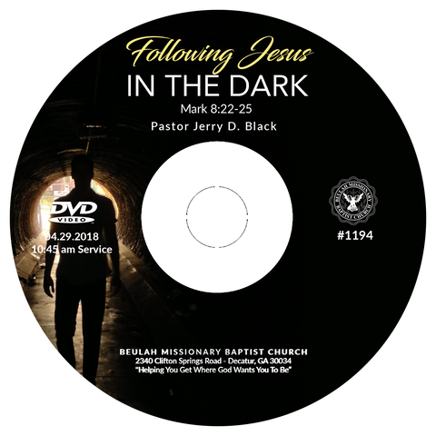 1194 Following Jesus in the Dark (CD)