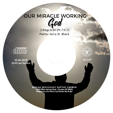 1197 Our Miracle Working God (CD)