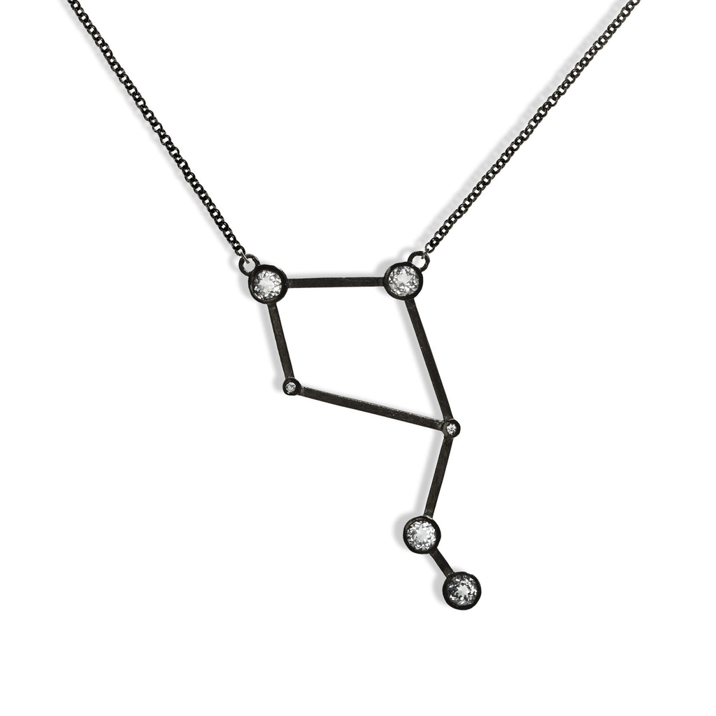 Libra - Gunmetal Necklace