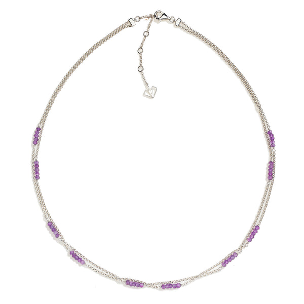 Violet - Amethyst Silver Necklace