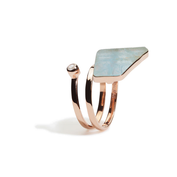 Namora - Aquamarine Single Wrap Ring