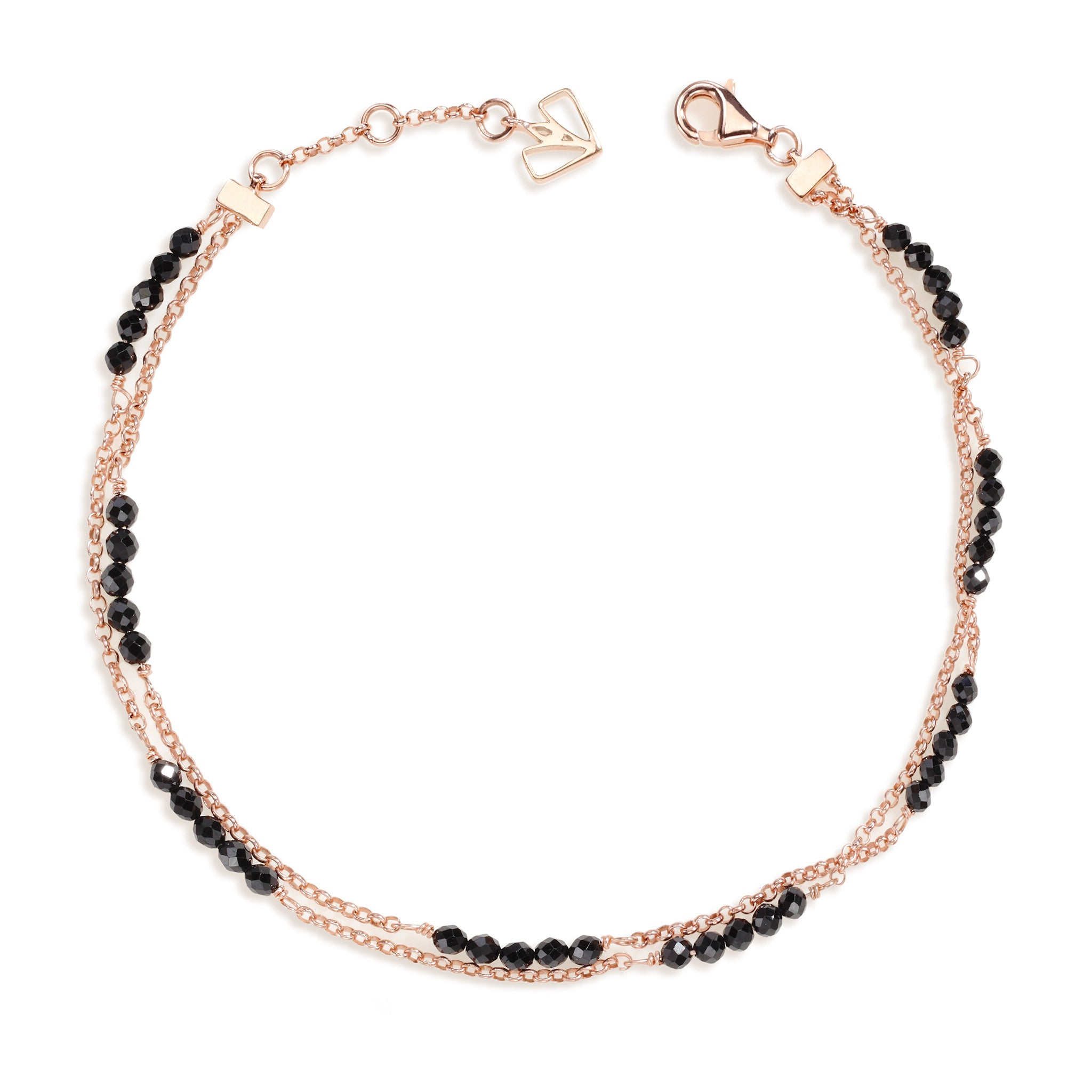 anklets collections stone gold and dots strand anklet seed kismet