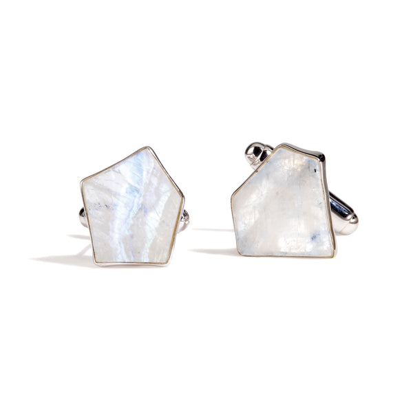 Galan - Rainbow Moonstone Cufflinks