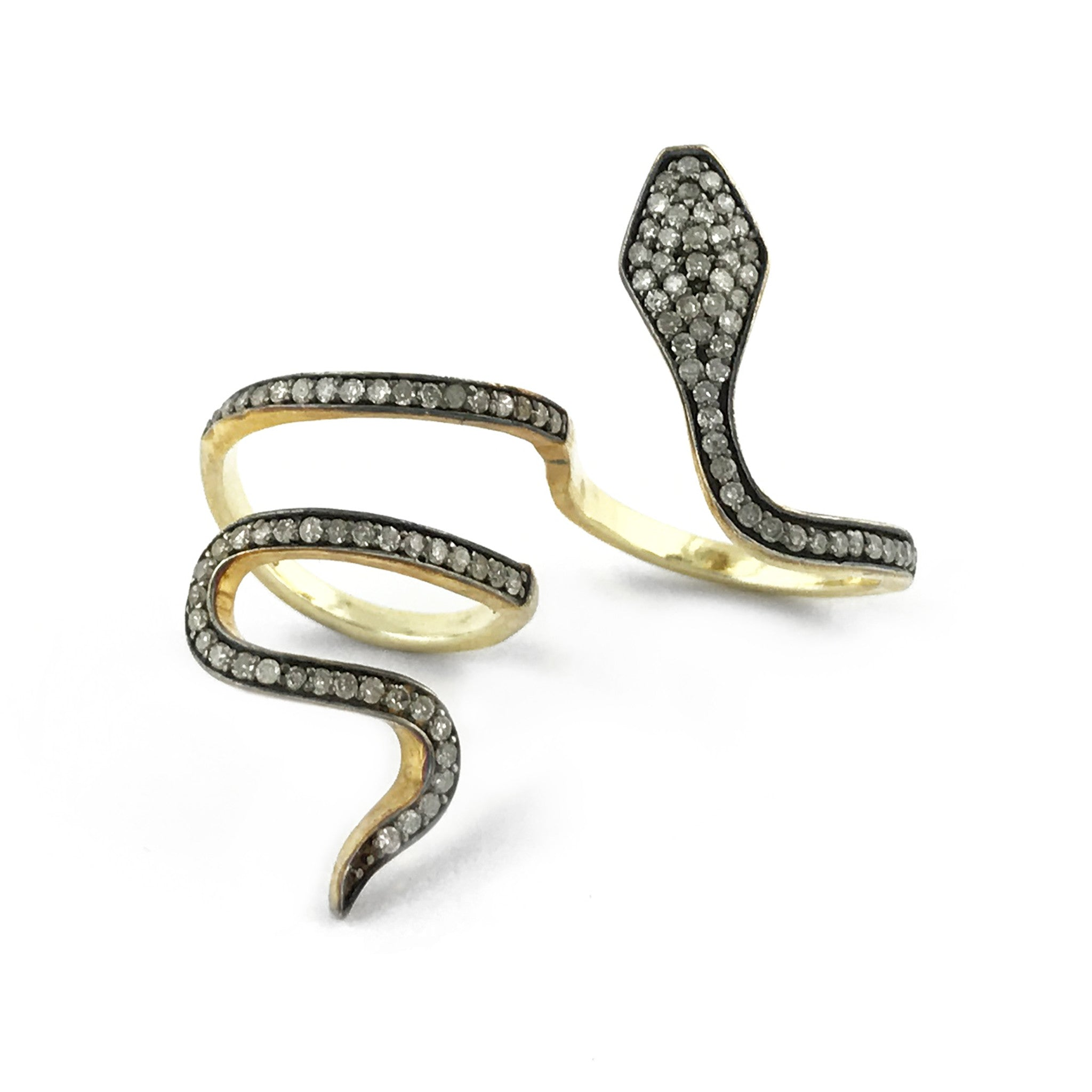mens diamond black s snake men lazaro jewelry soho for ring silver