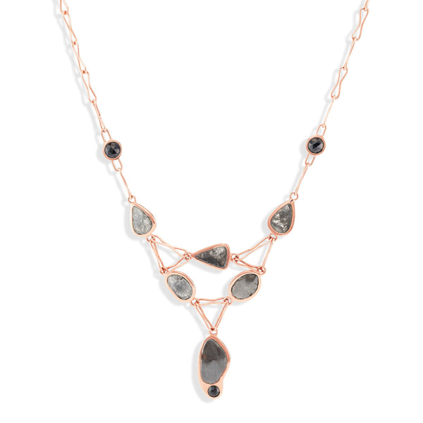 Black Diamonds & Spinel - Her Majesty Necklace