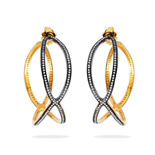 Jane - Criss-Cross Earrings
