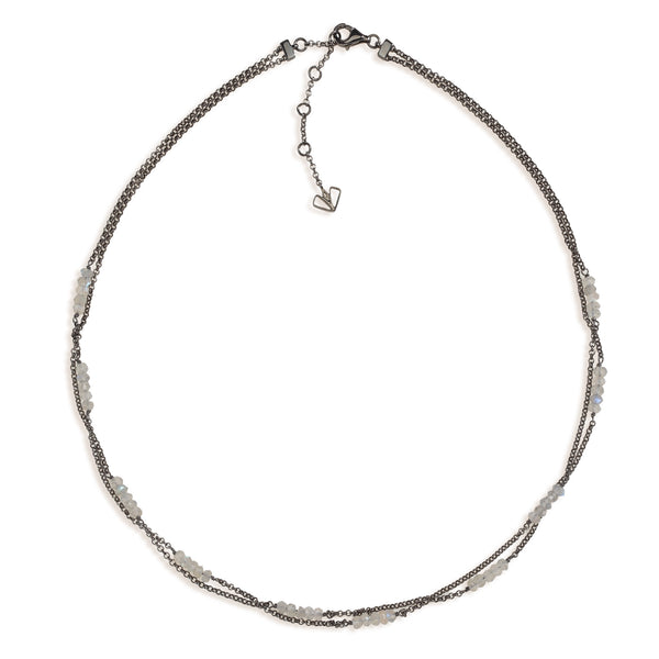 Angelica - Labradorite Gunmetal Necklace