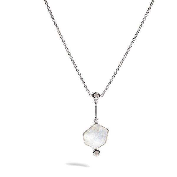 Clea - Rainbow Moonstone Only Necklace
