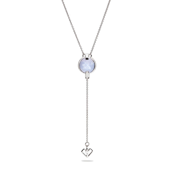 Harmony - 9 Ct Blue Lace Chalcedony Polished Silver Arrow Pendant