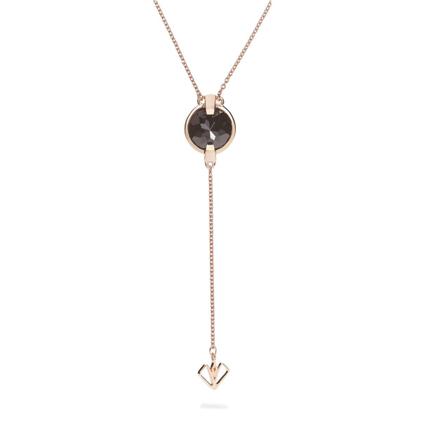 Vigor - 9 Ct Black Onyx Polished Rose Gold Arrow Pendant