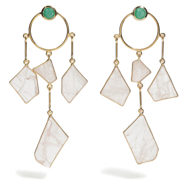 Crystalia - Rose Quartz Dream Earrings