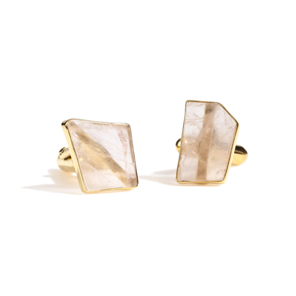 Galan - Rose Quartz Cufflinks