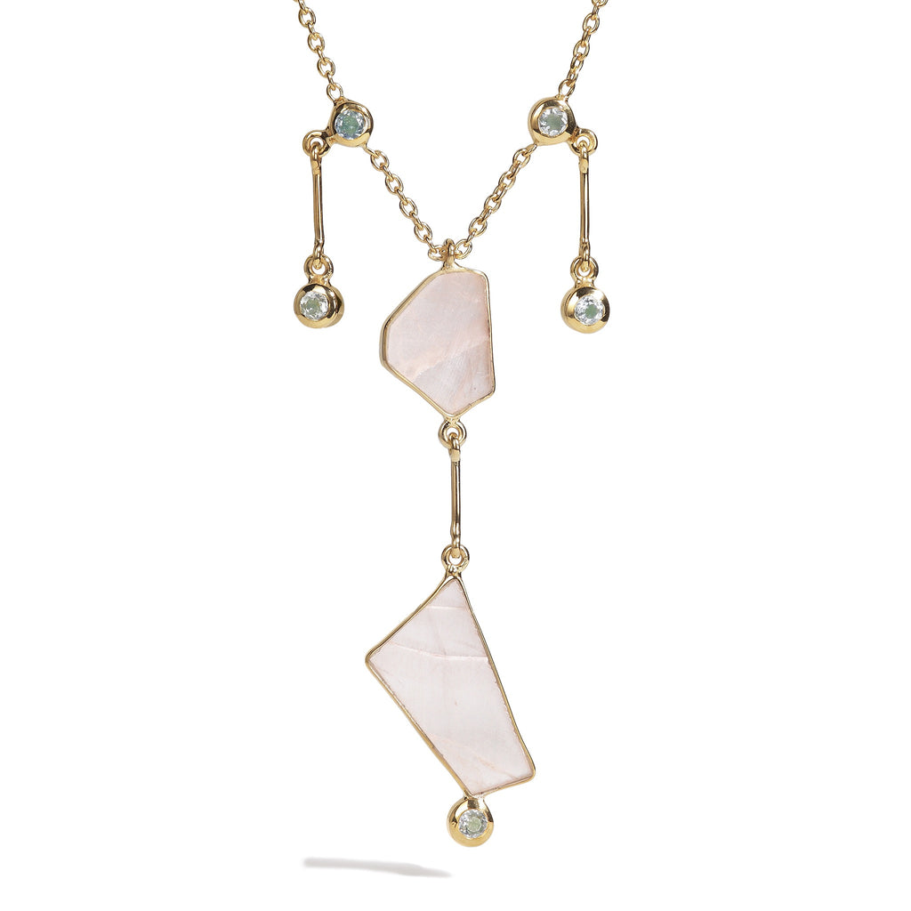 Crystalia - Rose Quartz Till Necklace