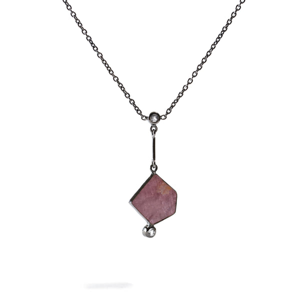 Cerise - Ruby Gunmetal Only Necklace